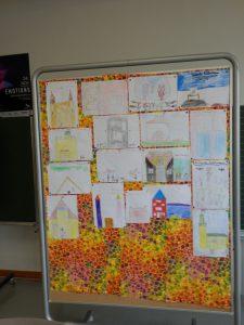 """Illustrationen zu """"Friederike Schlossmaus"""" der Kinder, die im Frühjahr bei der Krimitage-Lesung waren"""